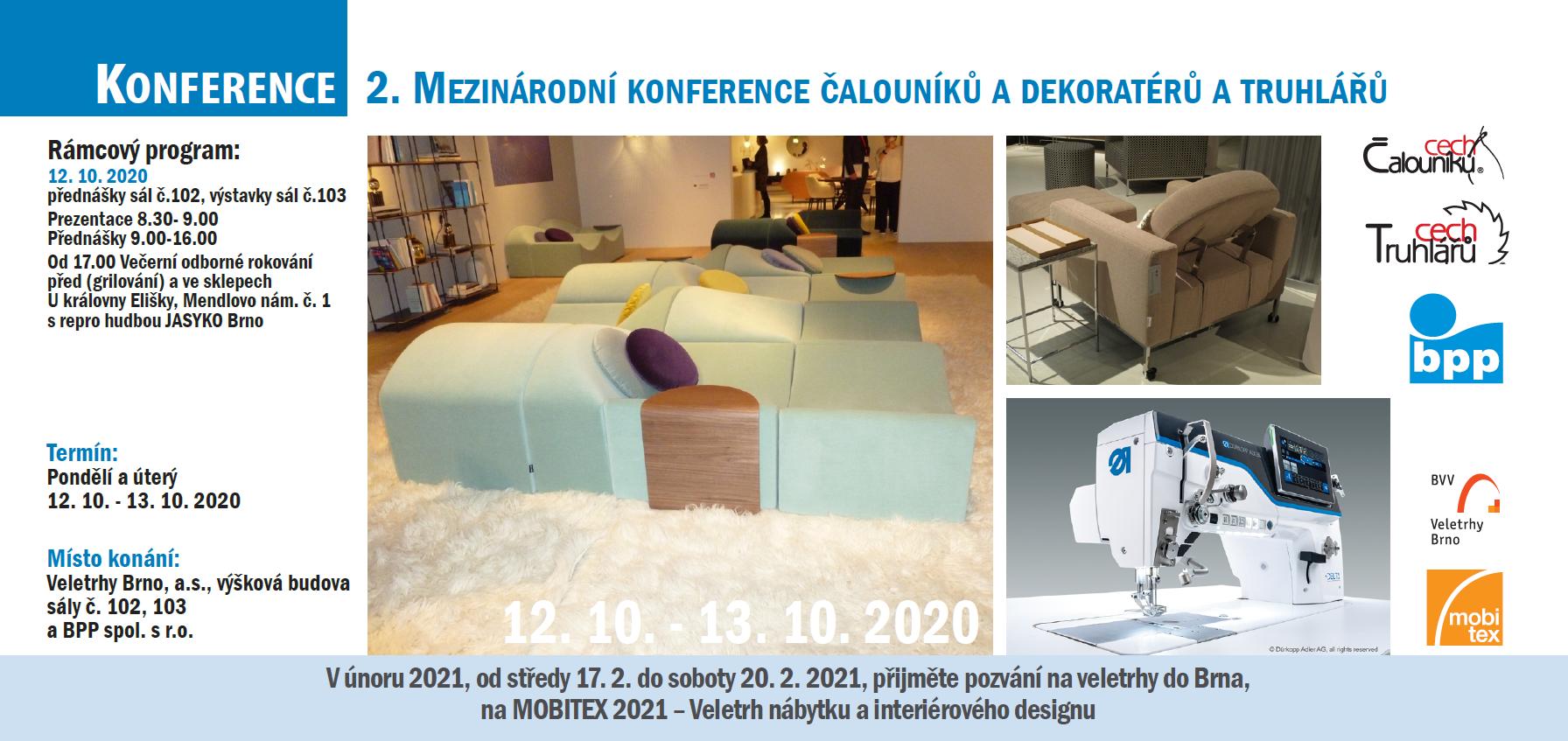 2. Mezinárodní konference cechu čalouníků a dekoratérů a truhlářů