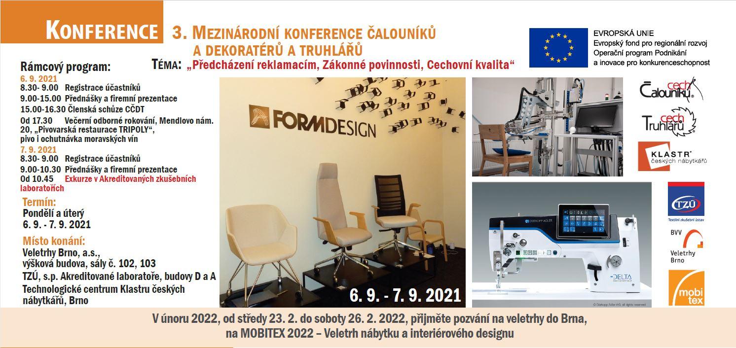3. Mezinárodní konference čalouníků a dekoratérů a truhlářů